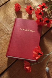 Photo of a spanish language Holy Bible.